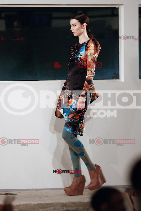 A model walks the runway at the UNRATH & STRANO FASHION SHOW during the Mercedes-Benz Fashion Week autumn/winter 2012 Berlin at U3 in Berlin, Germany, 19.01.2012...Credit: Poslada/face to face /MediaPunch Inc.