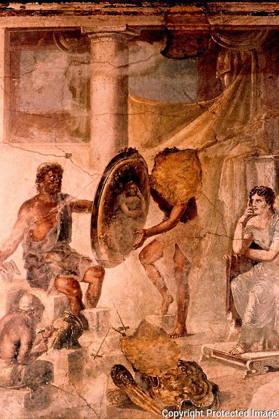 Roman Art:  Fresco--Teti e Vulcano (du Pompeii).  National Museum, Naples.