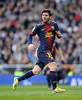 FUSSBALL  INTERNATIONAL  PRIMERA DIVISION  SAISON 2012/2013   26. Spieltag  El Clasico   Real Madrid  - FC Barcelona        02.03.2013 Lionel Messi (Barca)