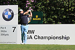 Paul McGinley teeing off on  the 7th.during round three of the BMW PGA championship 2010 at Wentworth golf club, Surrey England..Picture Fran Caffrey/Newsfile.ie
