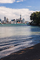 Auckland skyline seen from Bayswater, Auckland, New Zealand North Island