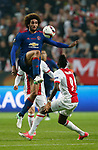 Marouane Fellaini of Manchester United in action with Bertrand Traore of Ajax during the UEFA Europa League Final match at the Friends Arena, Stockholm. Picture date: May 24th, 2017.Picture credit should read: Matt McNulty/Sportimage