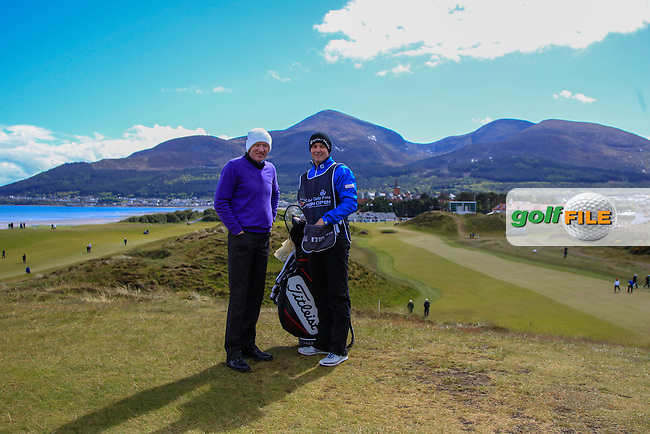 John Kelly (IRL) and his caddy on the 9th fairway  during Round 2 of the 2015 Dubai Duty Free Irish Open, Royal County Down Golf Club, Newcastle Co Down, Northern Ireland. 29/05/2015<br /> Picture Thos Caffrey, www.golffile.ie