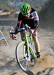 October 17, 2015 - Boulder, Colorado, U.S. - Feedback Sports cyclist, Tim Allen #49, works his way through a difficult sandy pitch during the U.S. Open of Cyclocross, Valmont Bike Park, Boulder, Colorado.