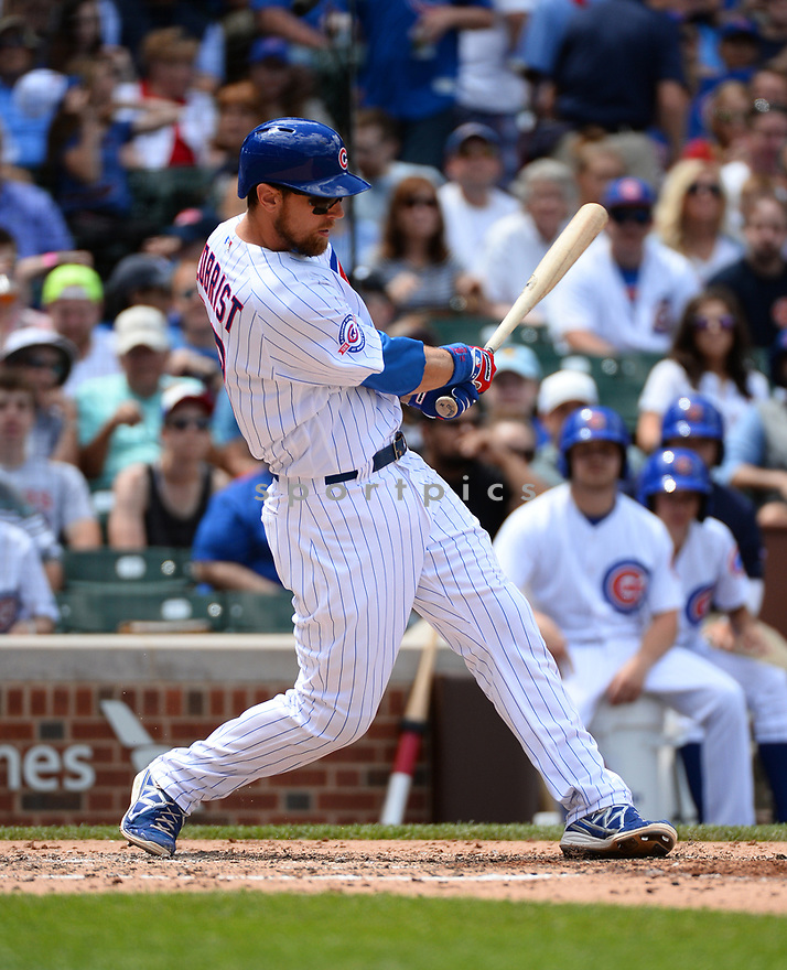 Chicago Cubs Ben Zobrist (18) during a game against the Arizona Diamondbacks on June 5, 2016 at Wrigley Field in Chicago, IL. The Diamondbacks beat the Cubs 3-2.