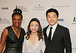 Candace Matthews poses with Maia & Alex Shibutani - 2016 World Silver Medalists / 2016 National Champions - The 11th Annual Skating with the Stars Gala - a benefit gala for Figure Skating in Harlem on April 11, 2016 on Park Avenue in New York City, New York with many Olympic Skaters and Celebrities. (Photo by Sue Coflin/Max Photos)