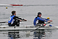 042 StJames SEN.2‐..Marlow Regatta Committee Thames Valley Trial Head. 1900m at Dorney Lake/Eton College Rowing Centre, Dorney, Buckinghamshire. Sunday 29 January 2012. Run over three divisions.