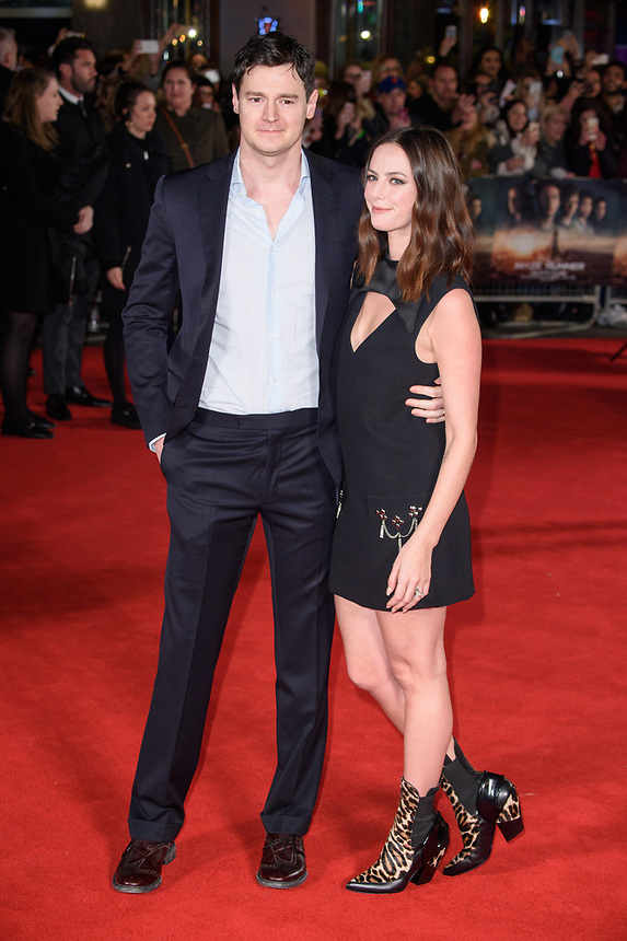 "Benjamin Walker and Kaya Scodelario<br /> arriving for the ""Maze Runner: The Death Cure"" Fan Screening at the Vue West End, Leicester Square, London<br /> <br /> <br /> ©Ash Knotek  D3370  22/01/2018"