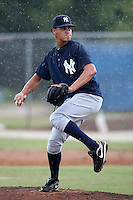 GCL Yankees Mariel Checo #69 during a game against the GCL Blue Jays at the Englebert Complex on June 23, 2011 in Dunedin, Florida.  The Blue Jays defeated the Yankees 3-2 in a rain shortened 8 inning game.  (Mike Janes/Four Seam Images)
