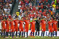 Action photo during the match Chile vs Panama, Corresponding to Group -D- America Cup Centenary 2016 at Lincoln Financial Field.<br /> <br /> Foto de accion durante el partido Chile vs Panama, Correspondiente al Grupo -D- de la Copa America Centenario 2016 en el  Lincoln Financial Field, en la foto: Seleccion de Chile<br /> <br /> <br /> 14/06/2016/MEXSPORT/Osvaldo Aguilar.