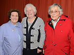 Helen Lennon pictured with Sheila Halpin and Ita Gray at the function to mark her 25 years in the Pioneers. Photo:Colin Bell/pressphotos.ie