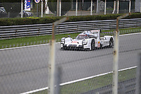 Le Mans Porsche 919 Prototype 1-Hybrid (LMP1-H) testing at Monza Autodrome during the 72nd Italian Open held in the Royal Park, Monza, Italy. 17-20th September 2015.<br /> Picture Eoin Clarke | Golffile