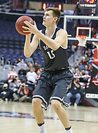 Washington, DC - March 11, 2018: Davidson Wildcats forward Oskar Michelsen (15) attempts to shoot the ball during the Atlantic 10 championship game between Rhode Island and Davidson at  Capital One Arena in Washington, DC.   (Photo by Elliott Brown/Media Images International)