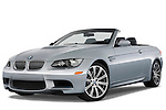 Low aggressive front three quarter view of a 2008 BMW M3 Convertible.