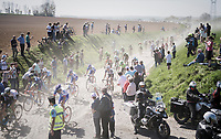 peloton dust storm<br /> <br /> 115th Paris-Roubaix 2017 (1.UWT)<br /> One Day Race: Compiègne › Roubaix (257km)