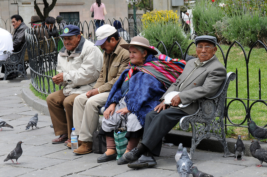 The pigeons of Plaza Murillo in central La Paz, Bolivia bring great joy to all.