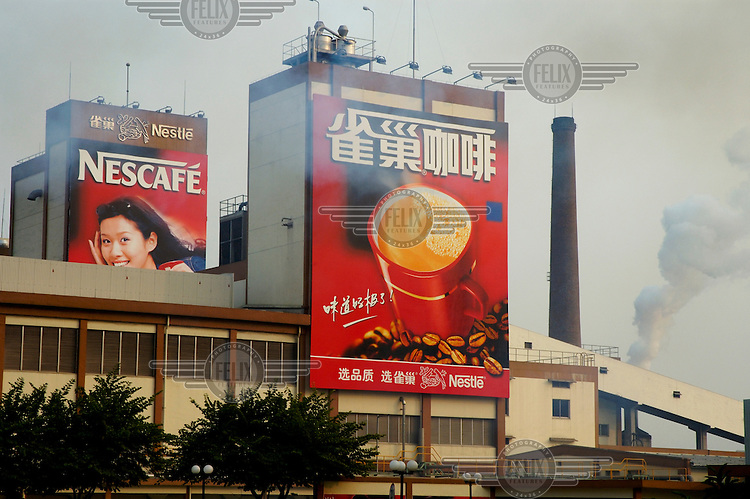 Emissions from a Nestle Nescafe instant coffee factory contribute to the city's heavy industrial pollution.