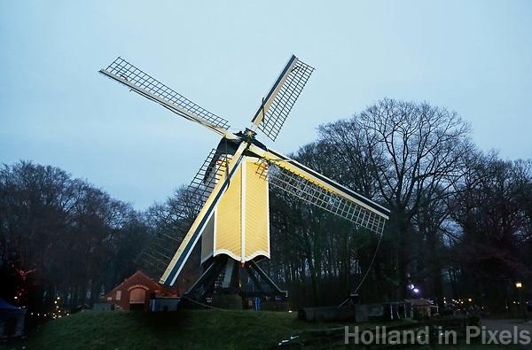 Nederland Arnhem - december 2017. Het Nederlands Openluchtmuseum. Standerdmolen uit Huizen. Foto Berlinda van Dam / Hollandse Hoogt