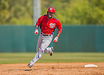 7 March 2013: Washington Nationals outfielder Denard Span in action during a Spring Training game against the Houston Astros at Osceola County Stadium in Kissimmee, Florida. The Astros defeated the Nationals 4-2 in Grapefruit League play. Mandatory Credit: Ed Wolfstein Photo *** RAW (NEF) Image File Available ***