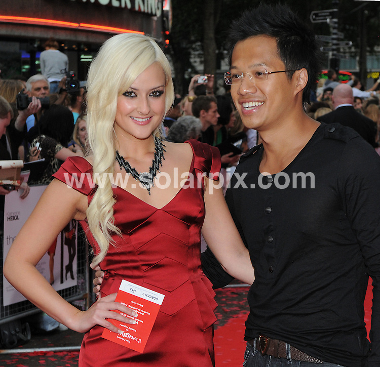 **ALL ROUND PICTURES FROM SOLARPIX.COM**.**WORLDWIDE SYNDICATION RIGHTS**.Premiere of The Ugly Truth at The Vue cinema, Leicester Square, London, UK. 4 August 2009 ..This pic: Karly Ashworth and Kenneth Tong..JOB REF: 9698 SSD     DATE: 04_08_2009.**MUST CREDIT SOLARPIX.COM OR DOUBLE FEE WILL BE CHARGED**.**MUST NOTIFY SOLARPIX OF ONLINE USAGE**.**CALL US ON: +34 952 811 768 or LOW RATE FROM UK 0844 617 7637**