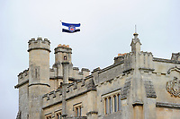 A general view of the Bath Rugby flag flying above Farleigh House. Bath Rugby pre-season training session on July 28, 2017 at Farleigh House in Bath, England. Photo by: Patrick Khachfe / Onside Images