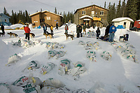 Ken Anderson Arrives @ Anvik Chkpt 2005 Iditarod Alaska
