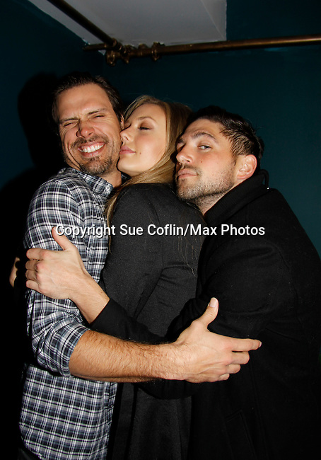Joshua Morrow & Melissa Ordway & Robert Adamson - The Young and The Restless - Genoa City Live celebrating over 40 on February 20, 2016 at the Wellmont Theatre, Montclair, NJ. on stage with questions and answers followed with autographs and photos in the theater.  (Photo by Sue Coflin/Max Photos)
