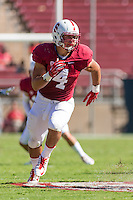 STANFORD, CA - AUGUST 30, 2014:  Blake Martinez during Stanford's game against UC Davis. The Cardinal defeated the Aggies 45-0.