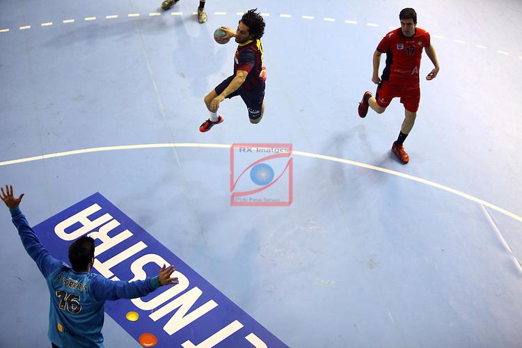 XXIV Copa ASOBAL - Game: 2<br /> FC Barcelona vs BM Huesca: 39-25.<br /> Juanin Garcia.