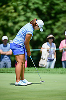 Mirim Lee (KOR) sinks her putt on 1 during Sunday's final round of the 72nd U.S. Women's Open Championship, at Trump National Golf Club, Bedminster, New Jersey. 7/16/2017.<br /> Picture: Golffile | Ken Murray<br /> <br /> <br /> All photo usage must carry mandatory copyright credit (&copy; Golffile | Ken Murray)