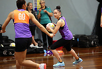 24.08.2017 Silver Ferns Whitney Souness in action during at the Silver Ferns training in Brisbane. Mandatory Photo Credit ©Michael Bradley.