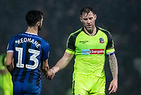 Bolton Wanderers' Daryl Murphy shakes hands with Rochdale's Jimmy Keohane at the end of the match<br /> <br /> Photographer Andrew Kearns/CameraSport<br /> <br /> The EFL Sky Bet League One - Rochdale v Bolton Wanderers - Saturday 11th January 2020 - Spotland Stadium - Rochdale<br /> <br /> World Copyright © 2020 CameraSport. All rights reserved. 43 Linden Ave. Countesthorpe. Leicester. England. LE8 5PG - Tel: +44 (0) 116 277 4147 - admin@camerasport.com - www.camerasport.com