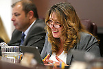 Nevada Assembly Minority Leader Marilyn Kirkpatrick, D-North Las Vegas, works in committee at the Legislative Building in Carson City, Nev., on Wednesday, Feb. 4, 2015. <br /> Photo by Cathleen Allison