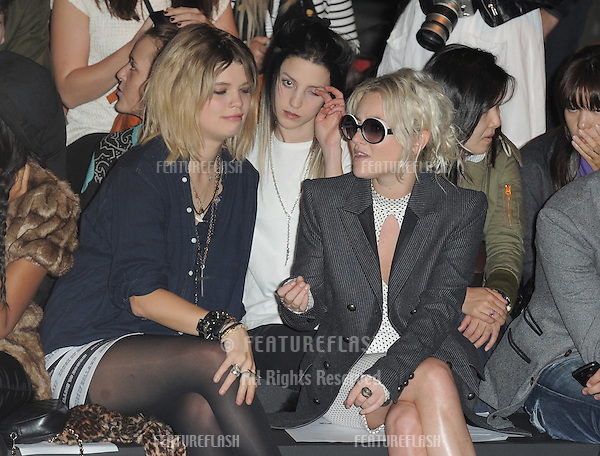 Pixie Geldof and Jaime Winstone at the Henry Holland Show, London Fashion Week. 18/09/2010  Picture by: Simon Burchell / Featureflash
