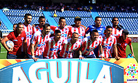 BARRANQUILLA - COLOMBIA, 04-02-2018: Formación del Atlético Junior contra el Atlético Bucaramanga por la fecha 1 de la Liga Águila II 2018 jugado en el estadio Metropolitano Roberto Meléndez. / Team of Atletico Junior during match agaisnt Atletico Bucaramanga   for the date 1 of the Aguila League I 2018 played at Metropolitano Roberto Meléndez  stadium. Photo: VizzorImage/ Alfonso Cervantes / Contribuidor