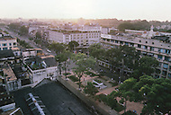 In Ho Chi Minh City, Saigon, February 1988. View of Saigon from the top of the Rex Hotel.