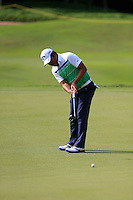 Danny Chia (MAS) on the 3rd green during Round 3 of the Maybank Malaysian Open at the Kuala Lumpur Golf & Country Club on Saturday 7th February 2015.<br /> Picture:  Thos Caffrey / www.golffile.ie