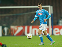 Napoli's Vlad Chireches during the Europa  League Group D soccer match between SSC Napoli and Midtjylland at the San Paolo  Stadium in NaplesNovember 05, 2015