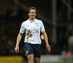 Preston's Kevin Davies grimmaces after hurting his hand<br /> <br /> FA Cup - Preston North End vs Manchester United  - Deepdale - England - 16th February 2015 - Picture David Klein/Sportimage