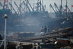 Fishing boats in the Daongagng boatyard. Chian. April.