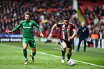 Enda Stevens of Sheffield Utd  evades Ben Pearson of Preston North End during the Championship league match at Bramall Lane Stadium, Sheffield. Picture date 28th April, 2018. Picture credit should read: Harry Marshall/Sportimage