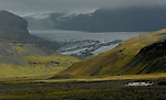 Eyjafjallajökull glacier covering the caldera of a volcano on the south coast of Iceland. It means island, mountains, glacier. (Bob Gathany) Eyjafjallajökull glacier covering the caldera of a volcano on the south coast of Iceland. It means island, mountains, glacier. (Bob Gathany)