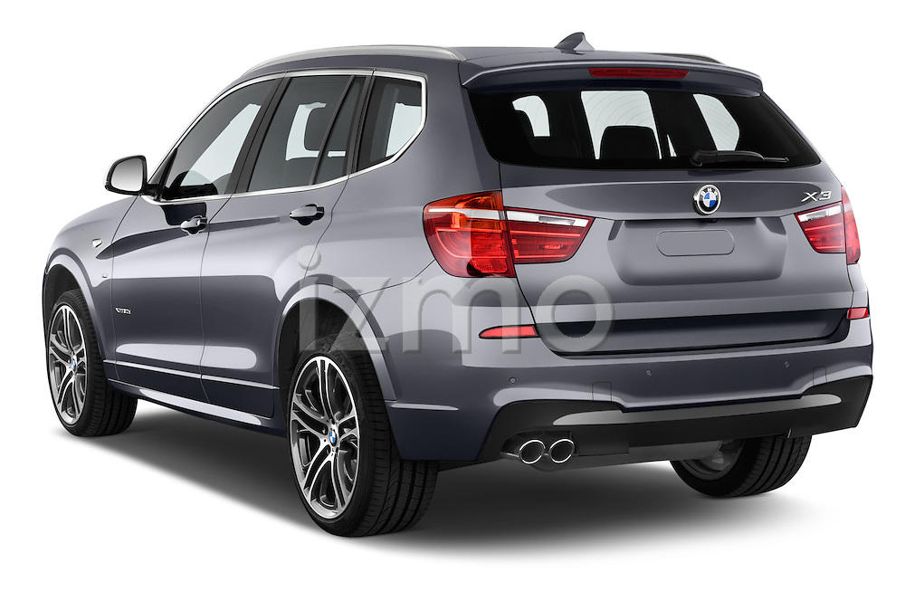 Car pictures of rear three quarter view of a 2015 BMW X3 M Sportpakket 5 Door Suv Angular Rear