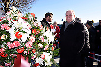 6th February 2020, Munich Riem Airport, Munich, Germany;  Uli Hoeness at the laying of the foundation stone for a commemorative display case for the 62nd anniversary of the air crash at the former Munich Riem Airport, in which 23 people died, including eight Manchester United football players