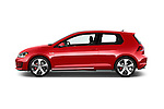 Car Driver side profile view of a 2015 Volkswagen GTI DSG 2 Door Hatchback Side View