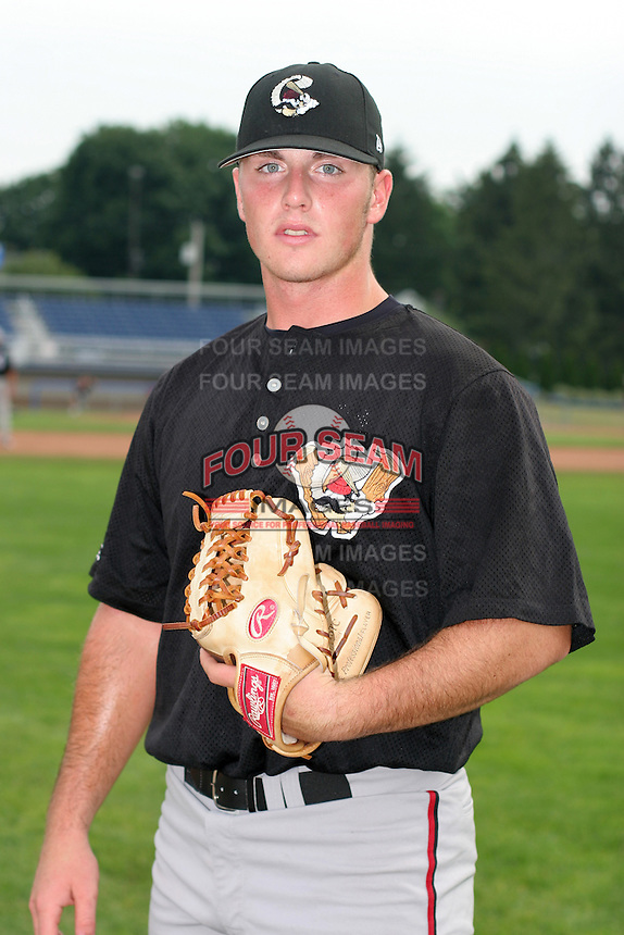 Williamsport Crosscutters Stephen MacFarland poses for a photo before a NY-Penn League game at Dwyer Stadium on July 3, 2006 in Batavia, New York.  (Mike Janes/Four Seam Images)