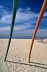 Detail of beach playground swings, Venice Beach, CA, 2005