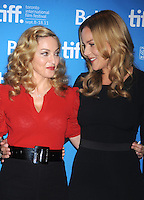 Madonna y Abbie Cornish en el 'W.E.' conferencia de prensa durante el Festival de Cine de Toronto 2011 en el TIFF Bell Lightbox el 12*septiembre*2011 en Toronto, Canada.