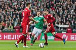 01.12.2018, Weserstadion, Bremen, GER, 1.FBL, Werder Bremen vs FC Bayern Muenchen<br /> <br /> DFL REGULATIONS PROHIBIT ANY USE OF PHOTOGRAPHS AS IMAGE SEQUENCES AND/OR QUASI-VIDEO.<br /> <br /> im Bild / picture shows<br /> Niklas S&uuml;le / Suele (FC Bayern Muenchen #04), Max Kruse (Werder Bremen #10) Kapit&auml;n / mit Kapit&auml;nsbinde, Leon Goretzka (FC Bayern Muenchen #18), <br /> <br /> Foto &copy; nordphoto / Ewert