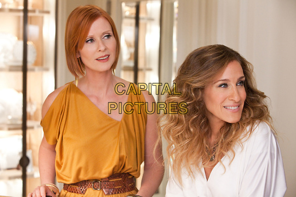 Sex and the City 2 (2010) <br /> Sarah Jessica Parker &amp; Cynthia Nixon<br /> *Filmstill - Editorial Use Only*<br /> CAP/MFS<br /> Image supplied by Capital Pictures
